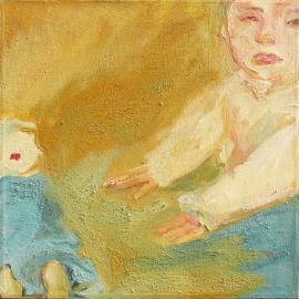 Tracey And Doll - Painting by Sue Kaplan