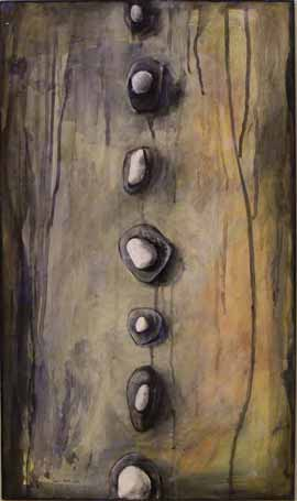Thinking In Line With Myself - Mixed Media Painting by Janet Botes