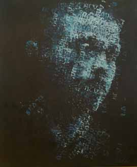 Binary Visage: Skadu (Shadow) - Painting by Claude Chandler