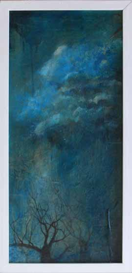 It Also Rains On Dead Trees - Painting by Janet Botes
