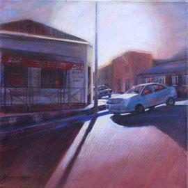 Harrington's Cafe - Acrylic Painting by Karen Wykerd