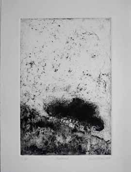 Shadowed - Monoprint by Laurel Holmes