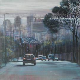 Kloof Nek III - Oil Painting by Karen Wykerd