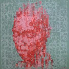 Binary Visage: Binary - Contemporary Portrait Painting by Claude Chandler