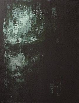 Binary Visage: Decoding - Acrylic Painting by Claude Chandler