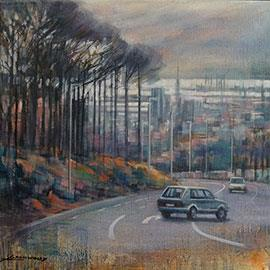 Kloof Nek I/Bellvue - Oil Painting by Karen Wykerd