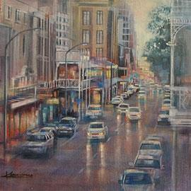 Long Street I - Oil Painting by Karen Wykerd