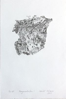 Fragmentation I: 1/2 AP - Monoprint by Laurel Holmes