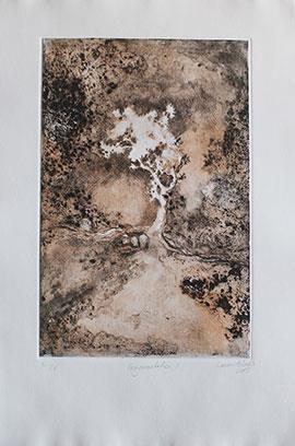 Fragmentation II: 3/9 EV - Etching by Laurel Holmes