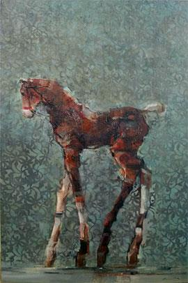 Autumn Filly - Large Oil Painting by Pascale Chandler