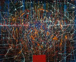 Large Hadron Collider I - Large Oil Painting by James de Villiers