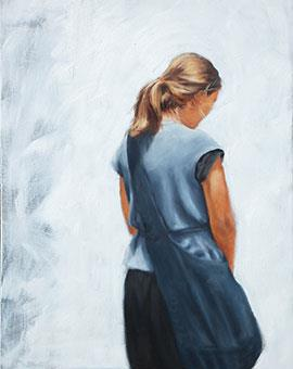 Lost In Thought - Oil Painting by Janna Prinsloo