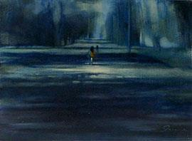 Moonlight Penetrates The Burden Of Sorrow - Painting by Joanne Reen