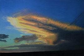 Longing - Cloudscape Painting by Catherine Ocholla