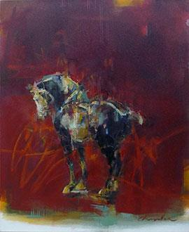 Tang Horse: Wink - Painting by Pascale Chandler