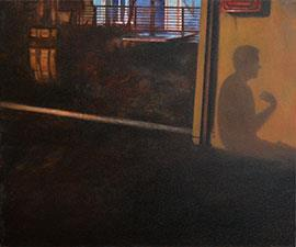 Confession At Midnight - Painting by Catherine Ocholla