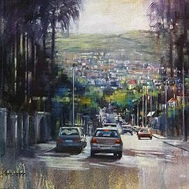 Camp Road - Painting by Karen Wykerd