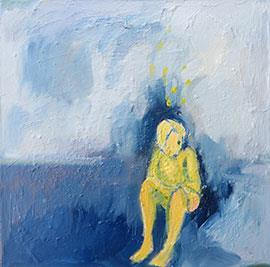 Yellow Son - Painting by Sue Kaplan