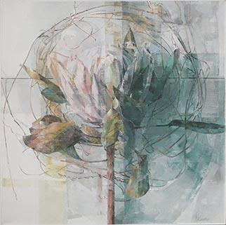 Wreath And Protea - Painting by Jeannie Kinsler