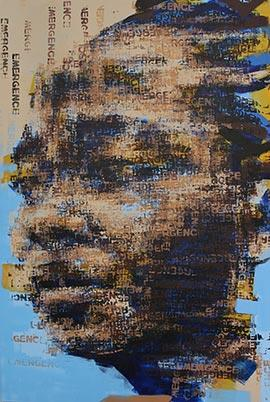 Binary Visage: Emergence - Painting by Claude Chandler