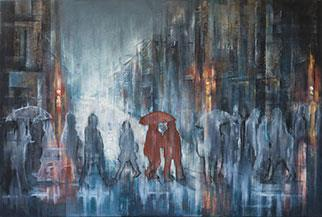 Cityscape: The Crossing - Painting by Tharien Smith