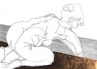Rest - Drawing by Tanya  Sternberg