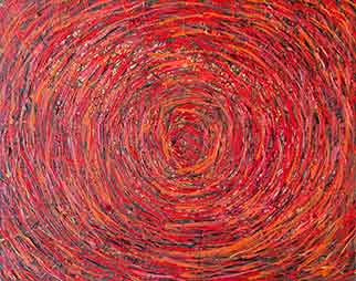 Vortex - Painting by James de Villiers
