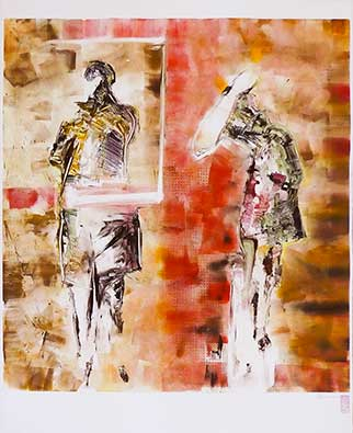 Scenes From An Exhibition - Monotype by Shui-Lyn White