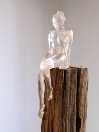Searching I (clear resin) Edition 1/12 - Sculpture by Sarah Walmsley