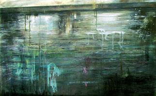 A Light Rain Falls - Painting by Joanne Reen