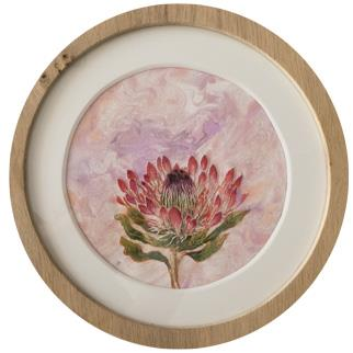 Botanica: Protea - Mixed Media by Karen Wykerd