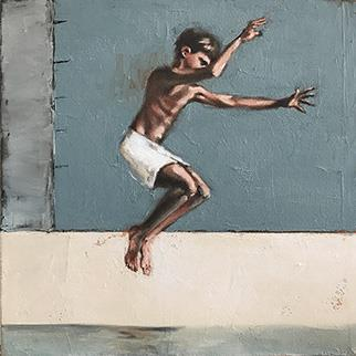 Leap I - Painting by Mila Posthumus