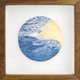 Gold Sands I - Cyanotype by Chloe Obermeyer