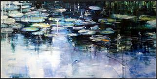 Nymphaea II - Painting by Joanne Reen