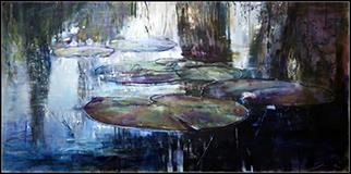 Nymphaea III - Painting by Joanne Reen
