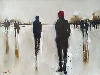 Moving Forward In The Distance - Painting by Nicole Pletts