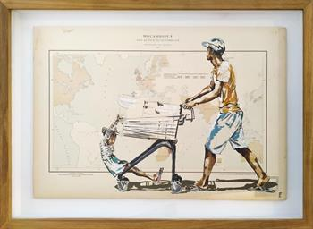 Trade With Mozambique - Original Painting by Lisette Forsyth