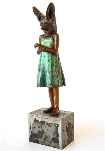 Young Girl - Sculpture by Elizabeth Balcomb