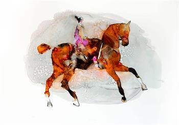 Equidea - Ink On Yupo by Pascale Chandler