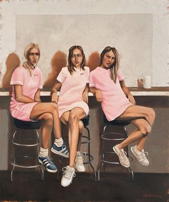 Waitress - Painting by Mila Posthumus