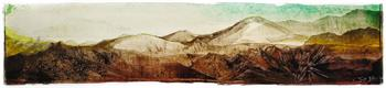 My Mountains II - Painting by Janet Botes
