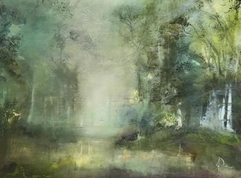 Chasing Fog - Painting by Janet Dirksen